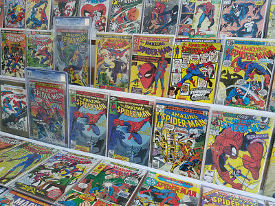 Huge AMAZING Vintage Spider-Man ASM Comic Book Collection Lot KEYS CGC