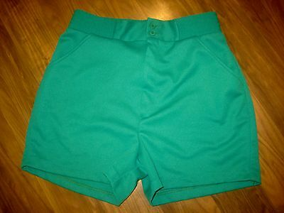 Vtg 60s 70s Green Polyester SEARS Mens SMALL Track Tennis Mod rockabilly shorts