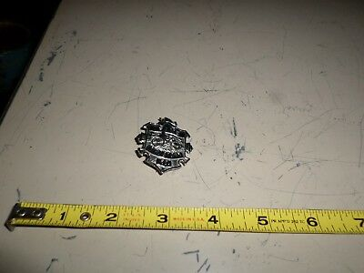 Vintage Metal Badge FD Lewistown PA Fire Department Fame Pin Back