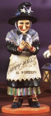 Pam Schifferl Halloween WITCH WITH CRYSTAL BALL FIGURINE