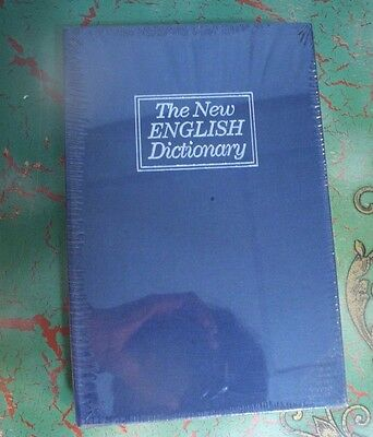 METAL SAFE in form of Metal BOOK The New English Dictionary Hide on Bookshelf NB
