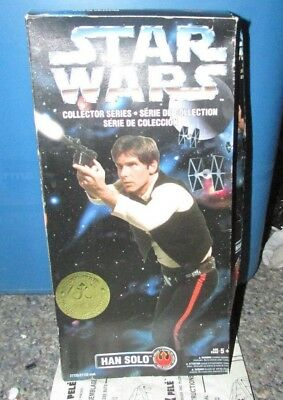 """NIP Kenner Star Wars 1996 Han Solo 12"""" Action Figure Collector Series"""