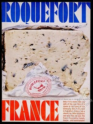 1961 Roquefort cheese nice color photo vintage print ad
