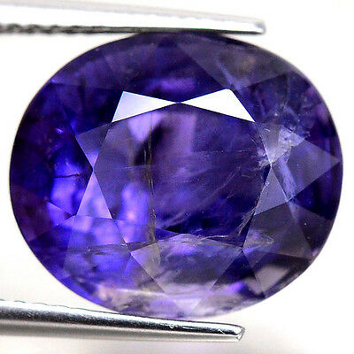 GENUINE 7.30ct NATURAL100% UNHEATED OVAL IOLITE FACETTED