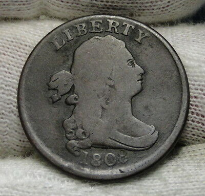 1808 Draped Bust Half Cent - Rare Coin, Free Shipping  (6522)