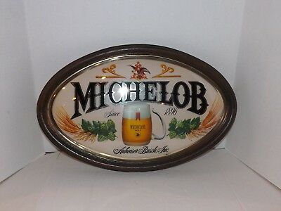 Michelob Oval Bar Wall Beer Sign - Anheuser-Busch Vintage