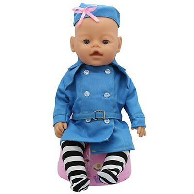 1set Doll Clothes Wearfor 43cm Baby Born zapf (only sell clothes ) B93