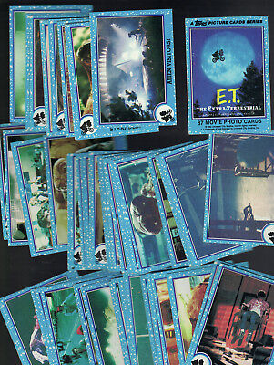 1982 Topps E.t The Extra -Terrestrial Trading Card Lot Approx 60 Cards