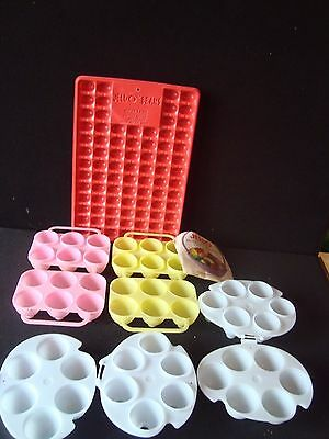 JELLO JIGGLER Plastic Easter Egg Mold Makes 24Eggs Jelly Bean Tray 82 Mini Eggs