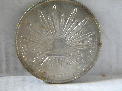 1 mexican coin 8 reales 1892 au chihuahua .903 silver