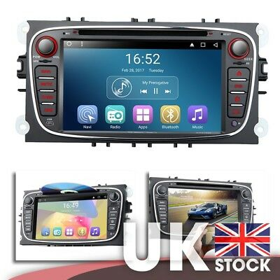 """Android 7.1 7"""" Multimedia Car DVD GPS Mutual Control for Ford Focus/Mondeo/S-max"""