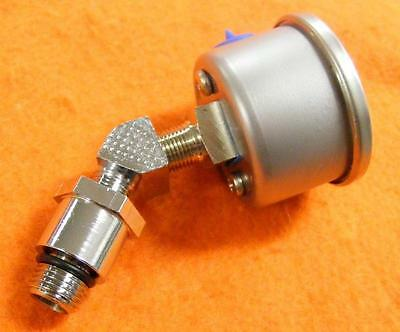 Quality Item Chrome Billet Oil Pressure Gauge Adapter Harley Shovelhead & Evo