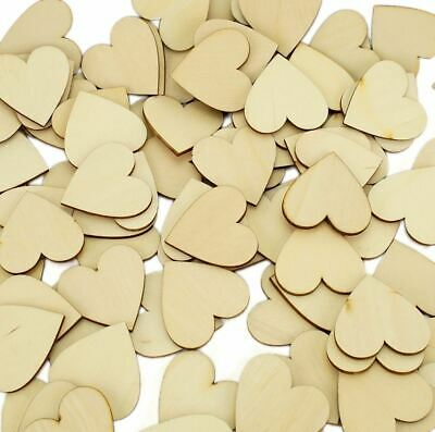 Wooden Hearts 4cm Wedding Guest Book Drop Box Supplies Timber Love