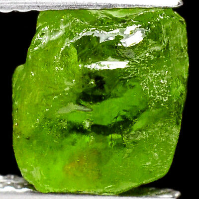 IF HIGH QUALITY 4.95ct 100%NATURAL UNHEATED GREEN PERIDOT ROUGH FACET NR!