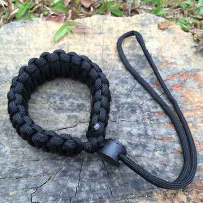 Durable Braided Strong Camera Adjustable Wrist Lanyard Strap For Paracord DSLR