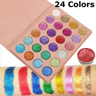 24 Colors Pressed Glitter Shimmer Eyeshadow Eye Shadow Palette Makeup Cosmetic