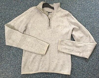 """Ladies Grey The North Face Wool Mix Jumper Top Medium 38-40"""" chest Walking"""