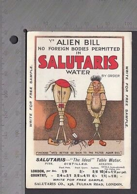 Advertising - Salutaris The Ideal Table Water Showing Evil Microbes