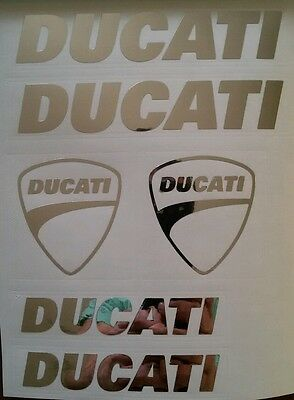 Ducati SET Aufkleber in Chrom !!Top