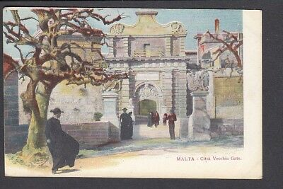 Malta - Citta Vecchia Gate - Early Card
