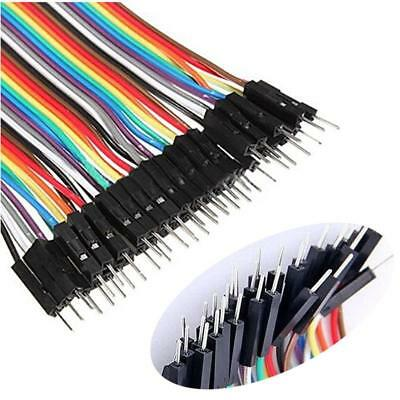 40 pin Rainbow cable dupont wire jump wire Male to Male Raspberry Pi Arduino PK
