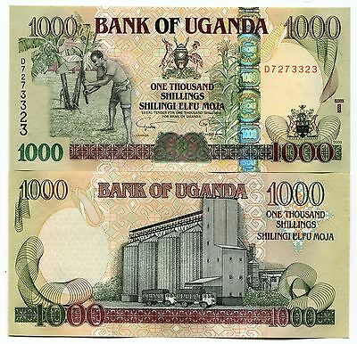 Uganda 1000 Shillings 2009 P43 Unc Banknote Currency X 10 Pieces Lot
