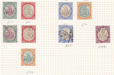 St Kitts Nevis 1903 mint and used selection CV> £110