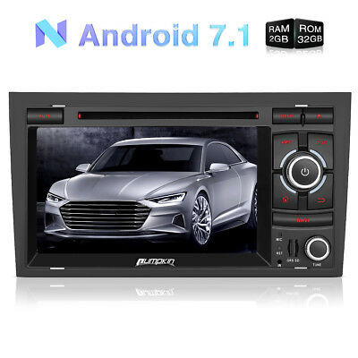 Android 7.1 Autoradio DVD GPS Navigation SD WIFI 32GB DAB FÜR Audi A4 2003-2008