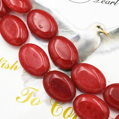 """13x18mm Brazilian mountains  Red Ruby Oval Gemstones Loose Beads 15"""""""