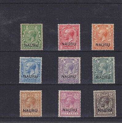 Nauru KGV 1916 Mounted Mint Collection