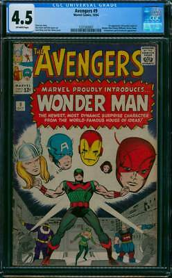 Avengers # 9  First appearance of Wonder Man !  CGC 4.5 scarce book !