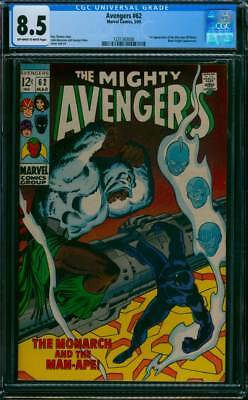 Avengers # 62  The Monarch and the Man-Ape !  CGC 8.5 scarce book !