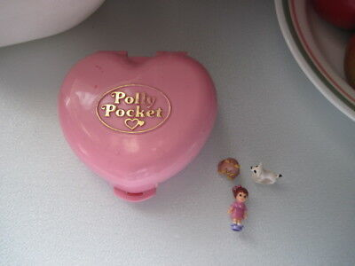 Vintage Polly Pocket Bluebird 1989 Pink Heart Polly's Country Cottage COMPLETE