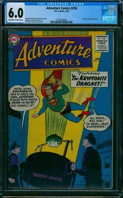 Action Comics # 256  Origin of Green Arrow !  CGC 6.0  scarce book !