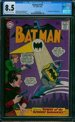 Batman # 170  Genius of the Getaway Gimmicks !  CGC 8.5  scarce book !
