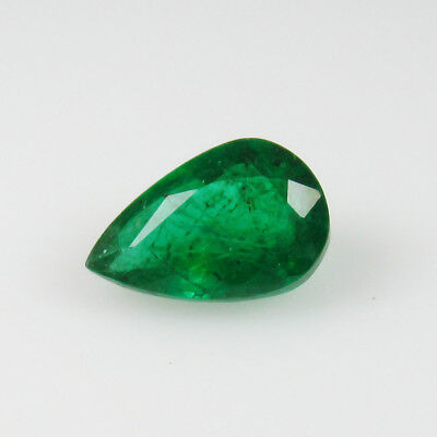 0.92 Ct - Natural Emerald - Zambia - Pear cut - Unheated - AAA Color