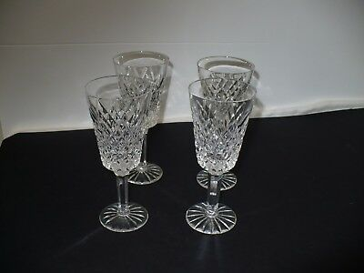 Tyrone Crystal 4 x Stemmed Wine Glasses Beautiful Design Stamped  GA19073 w/sop