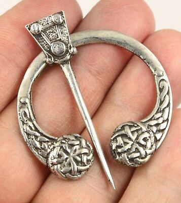 Vintage WBS silver Edinburgh HM 1964 Scottish Celtic Penannular brooch pin