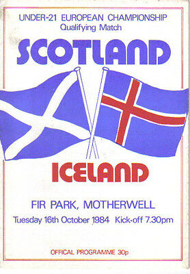 1984  SCOTLAND v ICELAND (EUROPEAN CHAMPS (U-21) QUALIFIER)