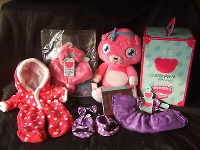 Chad Valley Design A Bear Moshi Monster Poppet With Selection Of Outfits