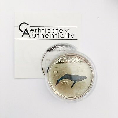 WILDLIFE CONSERVATION 2013 Humpback Whale 20 g 925/1000 Cook Islands Proof | K4