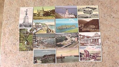 Old Postcards-ISLE OF MAN-14 VARIOUS DIFFERENT VIEWS-ISLE OF MAN