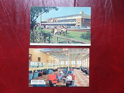2 Postcards of Butlins Holiday Camp