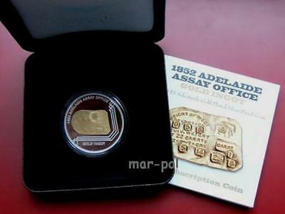 Australia 2009 1$ Adelaide Assay  Office Silver Proof Coin