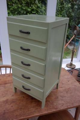 Vintage Mini Chest Of Drawers Filing Cabinet Utility Bedside Cabinet Rustic Chic