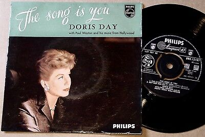 """Doris Day : The Song Is You UK Philips 4 Track 7"""" 45 EP 1958 - BBE 12187"""