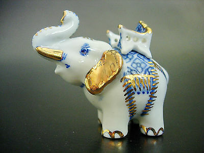 Ceramic Asian ELEPHANT Hand Painted Ornament Beautifully Decorated Animal Gift