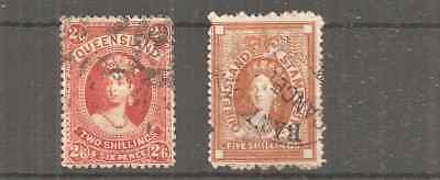 QUEENSLAND VERY FINE 5Shg STAMP DUTY AND SOME FIRSTS ISSUES.LAST SCAN BAD COND.