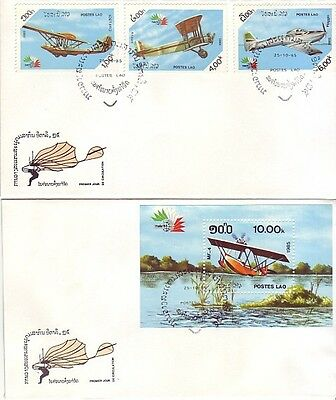 Laos - Aircraft Issue (2no. PO FDC's) 1985