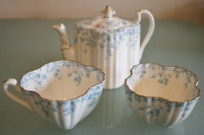 Antique Wileman The Foley China Ivy Pattern 1894-1910 T/Pot & Cup +Sugar Bowl